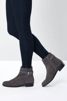 Next Forever Comfort Suede Stud Ankle Boots