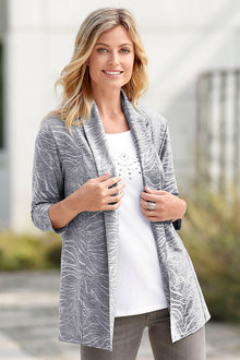 Euro Edit Animal Texured Jacket - 216926