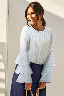 Urban Ruffle Sleeve Top
