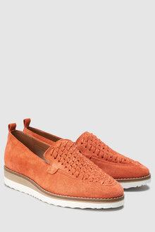Next Eva Woven Slip-On Loafers
