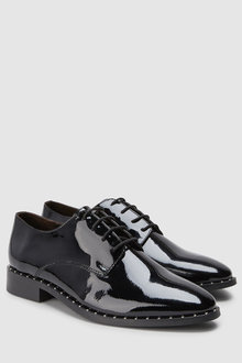 Next Signature Comfort Studded Leather Lace-Ups