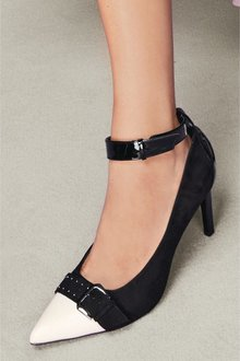 Next Buckle Detail Court Shoes