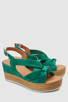 Next Leather Knot Wedges