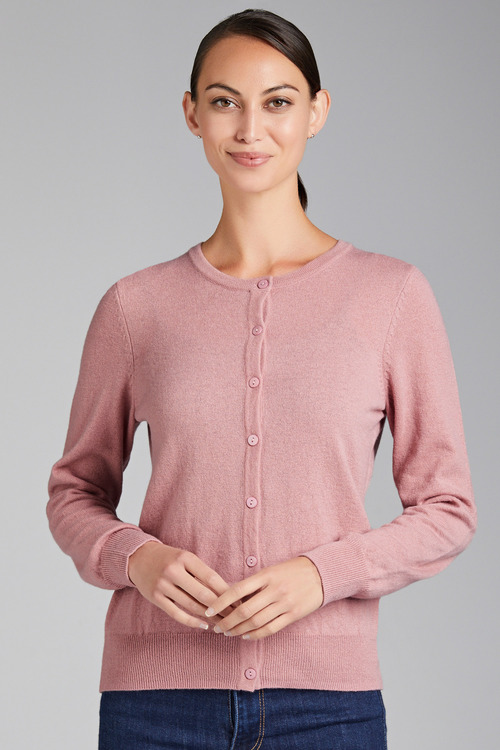 Grace Hill Cashmere Blend Button Up Cardigan