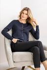 Grace Hill Cashmere Blend Button Up Cardigan