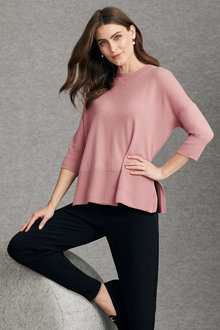 Grace Hill Cashmere Blend High Neck Sweater - 216994