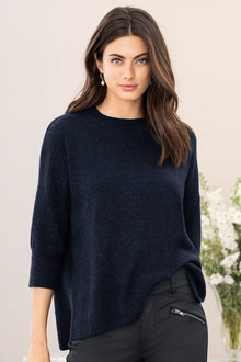 Grace Hill Cashmere Blend High Neck Sweater