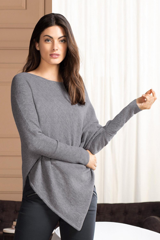 7ebf8b7e4 Grace Hill Cashmere Blend Asymmetric Poncho Sweater Online | Shop EziBuy