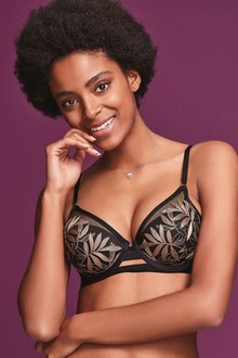 Next Phoebe Embroidered Lightly Padded Balcony Bra