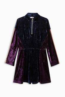 Next Velvet Zip Dress (3-16yrs)