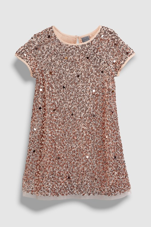 Next Sequin Shift Dress (3-16yrs)