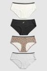 Next Cotton Blend Shorts Four Pack