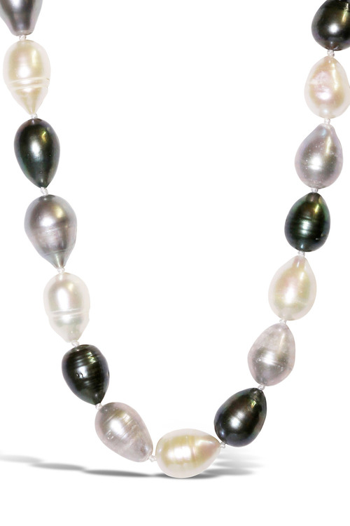 By Fairfax & Roberts Real Baroque Pearl Long Necklace