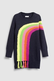 Next Rainbow Jumper Dress (3-16yrs)