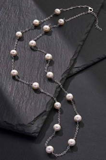 By Fairfax & Roberts Real Pearls Modern Twist Long Necklace - 217151
