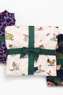 Next Ski Animals Pyjamas With Ribbon Wrapping