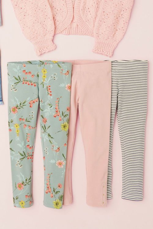 Next Floral Leggings Three Pack (3-16yrs)