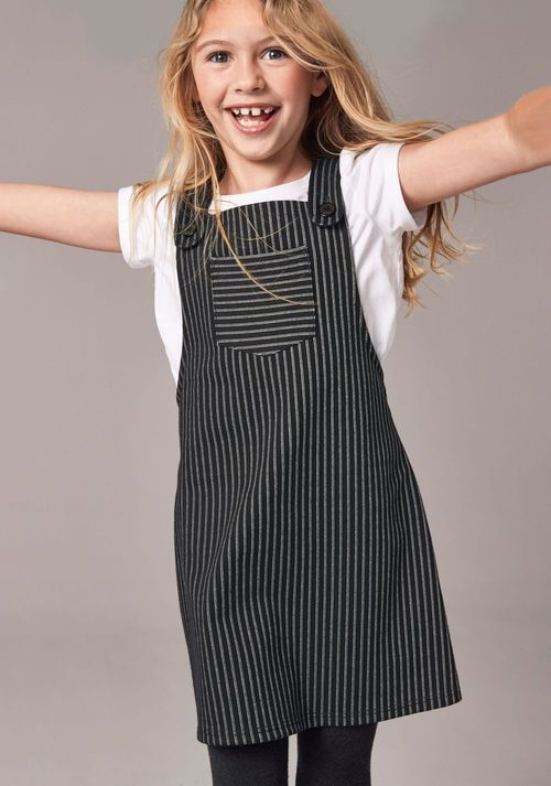 Next Pinstripe Dress And T-Shirt Set (3-16yrs)
