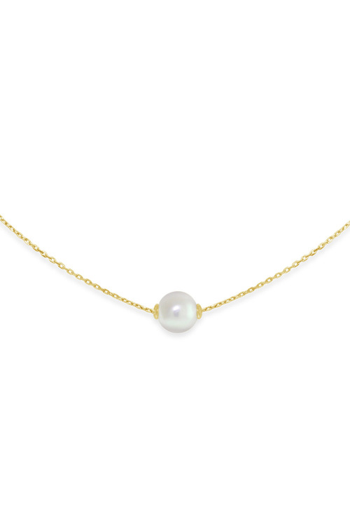 By Fairfax & Roberts Real Pearl Modern Twist Slider Necklace
