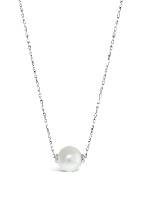 By Fairfax & Roberts Real Pearl Modern Twist Slider Necklace