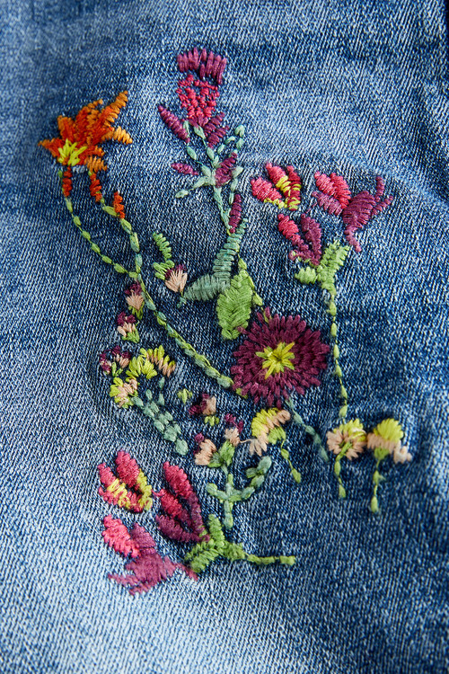 Next Embroidered Skinny Jeans (3-16yrs)