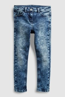Next Snow Wash Skinny Jeans (3-16yrs)