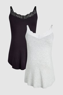 Next Maternity Secret Support Vests Two Pack