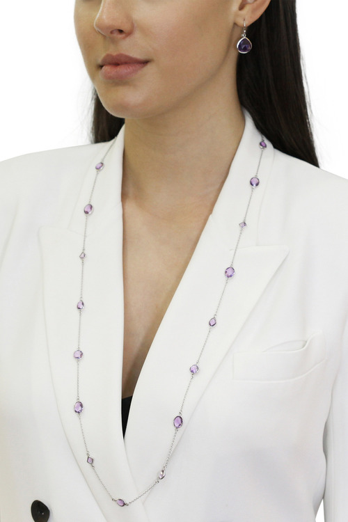 By Fairfax & Roberts Real Gemstone Long Necklace