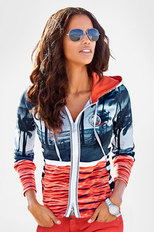 Urban Printed Hooded Jacket