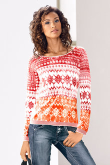 Urban Printed Sweater - 217282