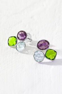 By Fairfax & Roberts Real Gemstone Trio Earrings - 217290