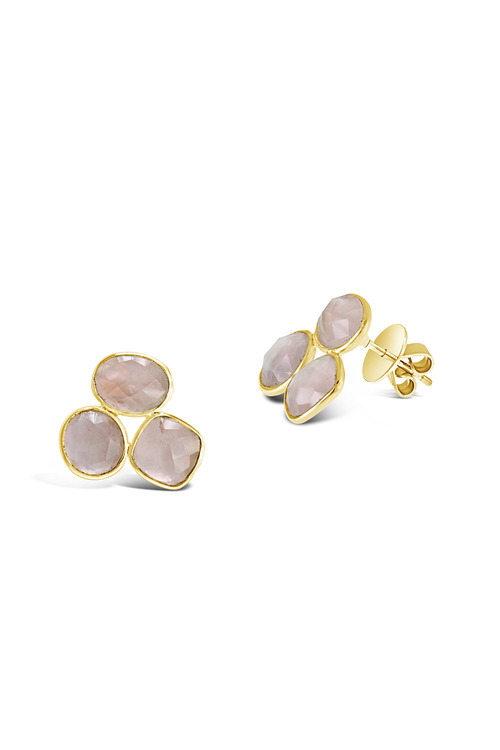 By Fairfax & Roberts Real Gemstone Trio Earrings