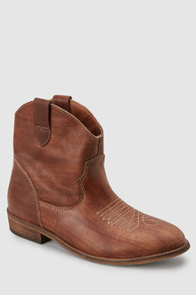 Next Leather Western Boots (Older)