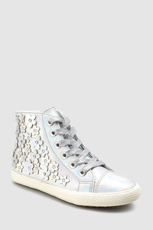 Next Floral Embellished High Tops (Older)