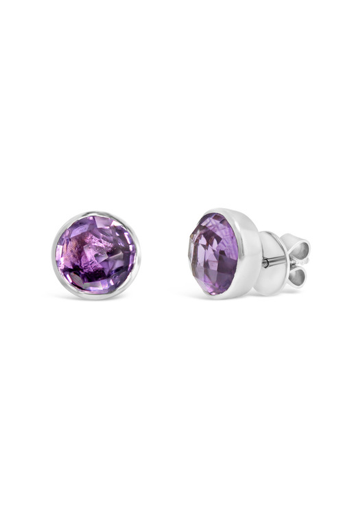 By Fairfax & Roberts Real Gemstone Stud Earrings