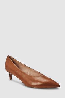 Next Leather Kitten Heels