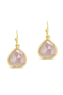 By Fairfax & Roberts Real Gemstone Single Drop Earrings
