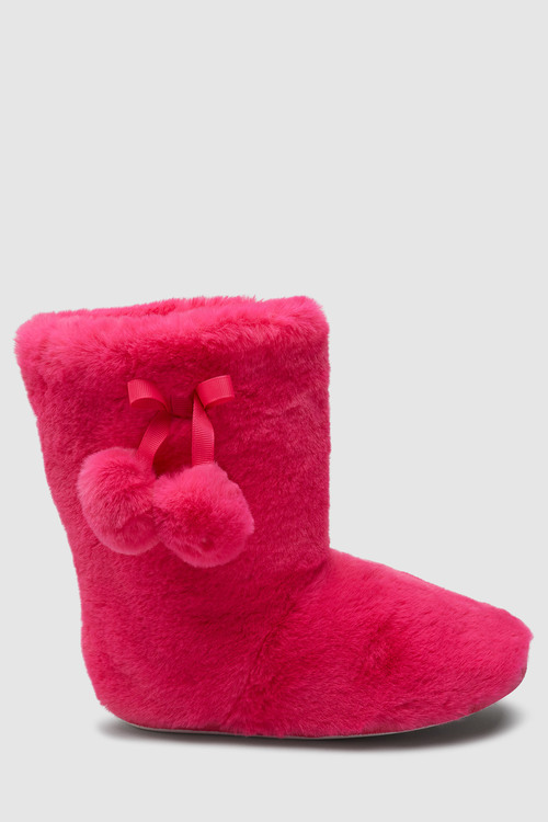 Next Pom Pom Slipper Boots (Older)