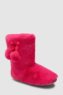 Next Pom Pom Slipper Boots (Older)