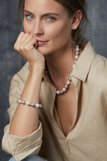 By Fairfax & Roberts Real Baroque Pearl Classic Necklace - 217354
