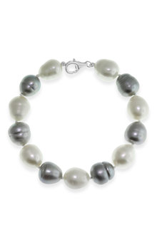By Fairfax & Roberts Real Baroque Pearl Bracelet - 217367