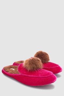 Next Velvet Mule Slippers