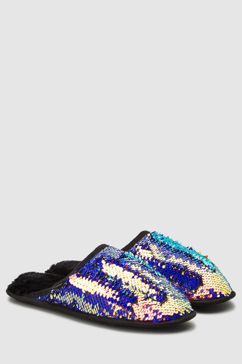 Next Sequin Mule Slippers