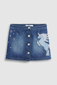 Next Unicorn Embroidered Skirt (3-16yrs)