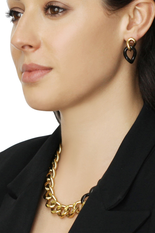 By Fairfax & Roberts Contemporary Link Earrings