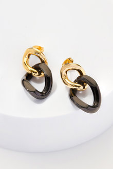 By Fairfax & Roberts Contemporary Link Earrings - 217400