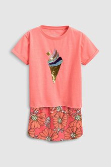 Next Short Sleeve T-Shirt And Skirt Set (3-16yrs)