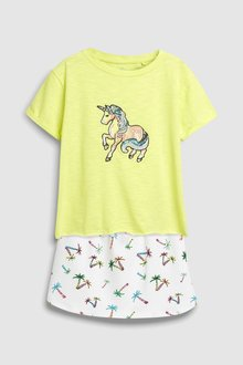 Next Short Sleeve T-Shirt And Skirt Set (3-16yrs)