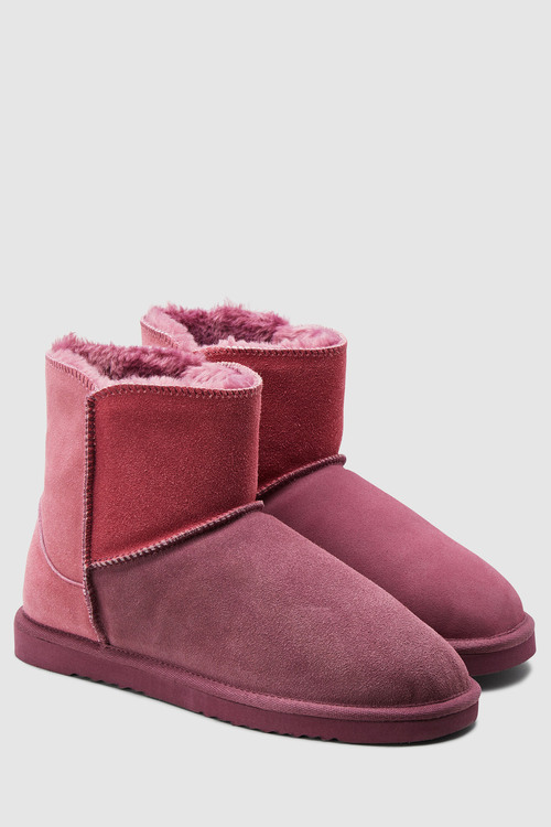 Next Suede Slipper Boots