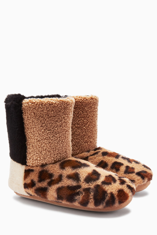Next Faux Fur Patch Boots